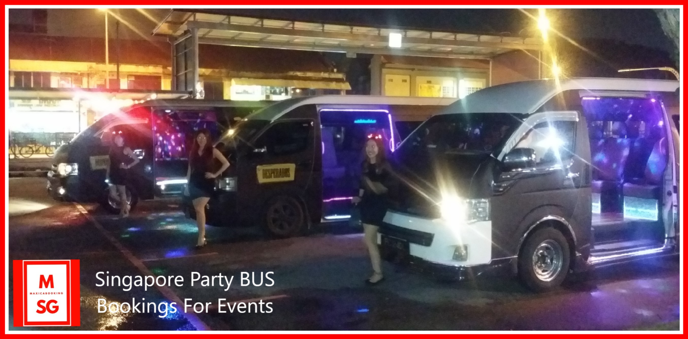 party bus hotline for events booking